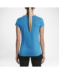 Nike Blue Dri-fit Contour Short-sleeve