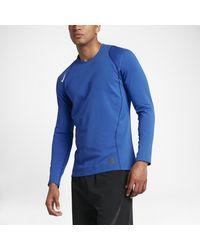 Nike - Blue Pro Warm Men's Long Sleeve Training Top for Men - Lyst