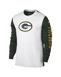 Nike - White Championship Drive 2.0 (nfl Packers) Men's Long Sleeve T-shirt for Men - Lyst