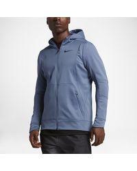 Nike Blue Therma Hyper Elite Men's Basketball Hoodie for men