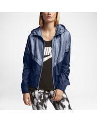 Lyst - Nike Sportswear Windrunner Women s Jacket in Blue 049990b865