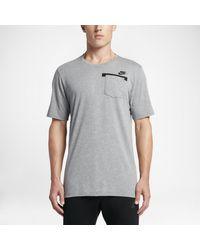 Nike   Gray Sportswear Men's T-shirt for Men   Lyst