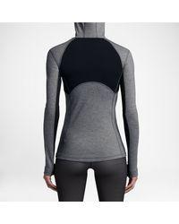 Nike Gray Pro Hyperwarm Women's Hoodie