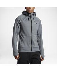 Nike Gray Jordan 360 Fleece Full-zip for men