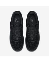 Nike Black Air Force 1 07 Premium for men