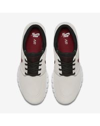 Nike White Sb Stefan Janoski Max L for men