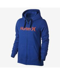 Nike Blue Hurley One And Only Fleece Full-zip