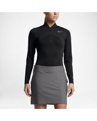 Nike Black Zonal Cooling Dry Knit Women's Half-zip Golf Top