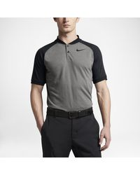 Nike Black Raglan Men's Slim Fit Golf Polo Shirt for men