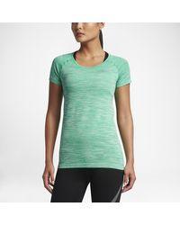Nike Green Dry Knit Women's Short Sleeve Top
