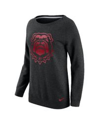 Nike | Black College Championship Drive Boyfriend Crew (georgia) Women's Sweatshirt | Lyst