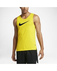 49c7a56e Nike Dry Elite Men's Basketball Tank in Yellow for Men - Lyst