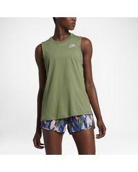 Nike | Green Dry Women's Running Tank | Lyst