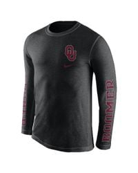 Nike | Black College Tri Fresh (oklahoma) Men's Long Sleeve T-shirt for Men | Lyst