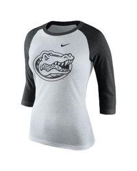 Nike | White College Tri Raglan (florida) Women's 3/4 Sleeve T-shirt | Lyst