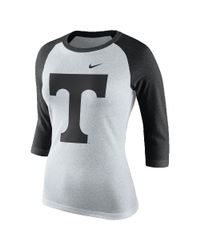Nike - Black College Tri Raglan (tennessee) Women's 3/4 Sleeve T-shirt - Lyst