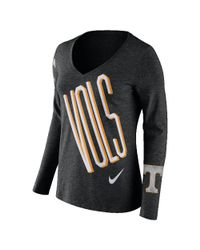 Nike | Black College Tri Mid V (tennessee) Women's Long Sleeve T-shirt | Lyst