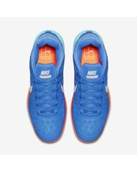 Nike Blue Court Zoom Cage 2 Clay for men