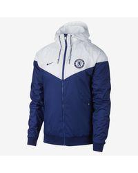 Nike Blue Chelsea Fc Authentic Windrunner for men