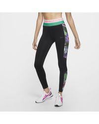 Nike Black Pro Icon Clash 7/8-Tights für