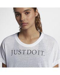 Top da running a manica corta Tailwind JDI di Nike in White