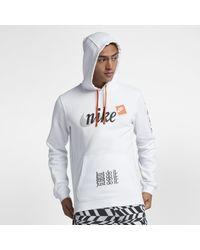 b6061acfb Nike Sportswear Club Fleece Jdi Pullover Hoodie in White for Men - Lyst