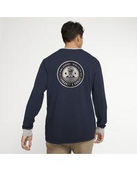 Nike Hurley x Carhartt Ringer Langarm-T-Shirt für in Blue für Herren
