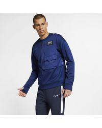 Nike F.C. Fußball-Rundhalsshirt für in Blue für Herren
