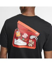 T-shirt Sportswear di Nike in Black da Uomo