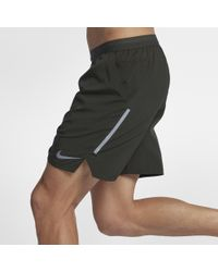 "Nike Green Distance Men's 7"" Lined Running Shorts for men"