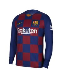 Maglia da calcio a manica lunga FC Barcelona 2019/20 Stadium Home di Nike in Blue da Uomo