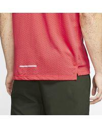 Nike Rise 365 Kurzarm-Laufoberteil für in Red für Herren