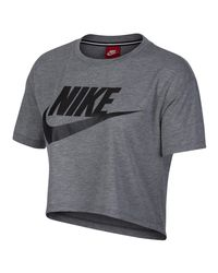 Nike Gray Sportswear Essential Cropped Top