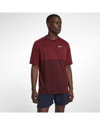 Nike Red Medalist Men's Short Sleeve Running Top for men
