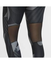 Tights da running a 7/8 stampati Fast di Nike in Black