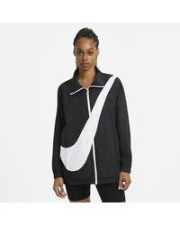 Nike Black Sportswear Woven Swoosh Jacket