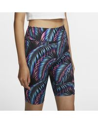 Nike Black Radshorts mit Print