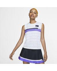 Canotta da tennis Court Slam di Nike in White