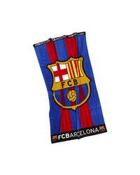 Nike Blue Fc Barcelona Striped Beach Towel