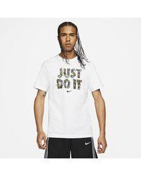 """Nike """"just Do It"""" Basketball T-shirt White for men"""