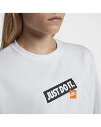 Nike White Sportswear Just Do It Crew