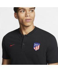Nike Atlético de Madrid Fußball-Poloshirt für in Black für Herren