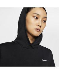 Nike Black Therma Sphere -Lauf-Hoodie