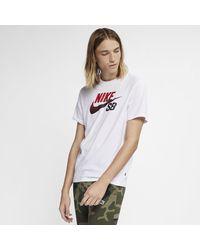 Nike White Sb Dri-fit Logo Skate T-shirt for men