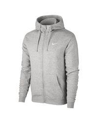 Felpa con cappuccio e zip a tutta lunghezza Sportswear di Nike in Gray da Uomo