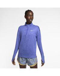 Nike Purple Laufoberteil mit Halbreißverschluss für