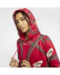 Sweatà capuche court Sportswear Icon Clash pour Nike en coloris Red