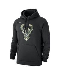 Nike Milwaukee Bucks NBA-Hoodie für in Black für Herren