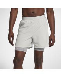 """Nike Gray Flex Stride 2-in-1 Men's 5"""" Running Shorts for men"""