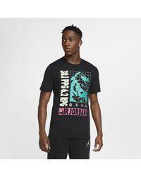 Nike Black Jordan Winter Utility Short-sleeve T-shirt for men